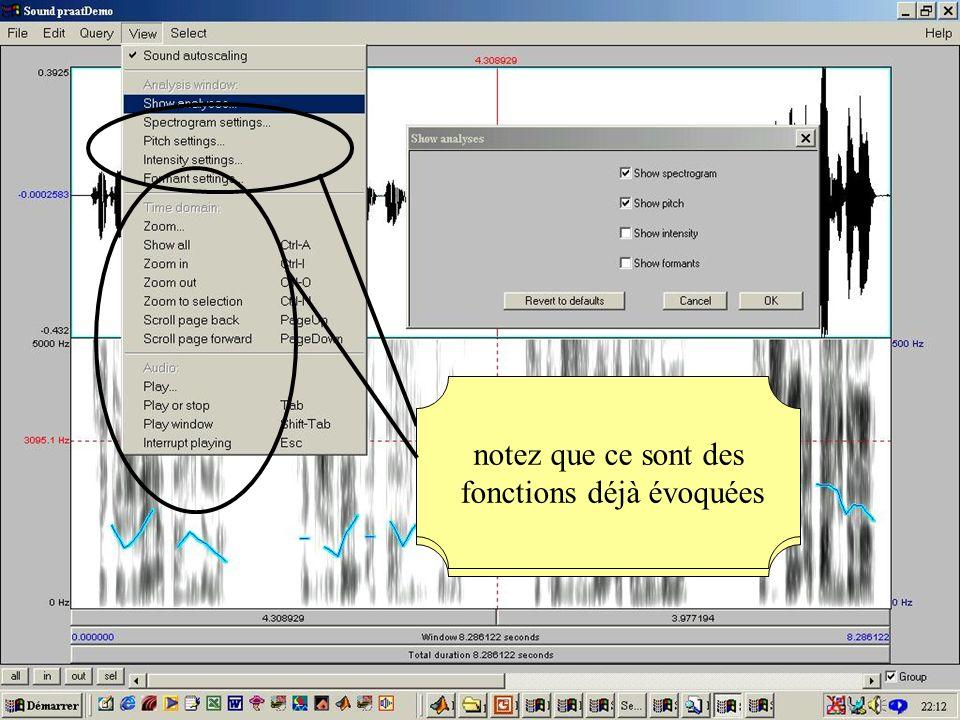 Cédric Gendrot - TAL SLOW 5 - 2003-2004 - ILPGA 49 les 4 fonctions permettent de régler les préférences notez que ce sont des fonctions déjà évoquées