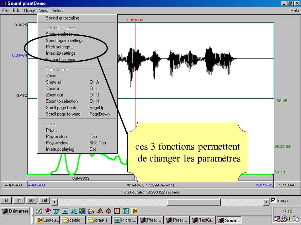 Cédric Gendrot - TAL SLOW 5 - 2003-2004 - ILPGA 60 ces 3 fonctions permettent de changer les paramètres