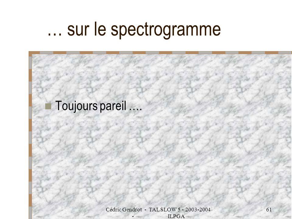 Cédric Gendrot - TAL SLOW 5 - 2003-2004 - ILPGA 61 … sur le spectrogramme Toujours pareil ….