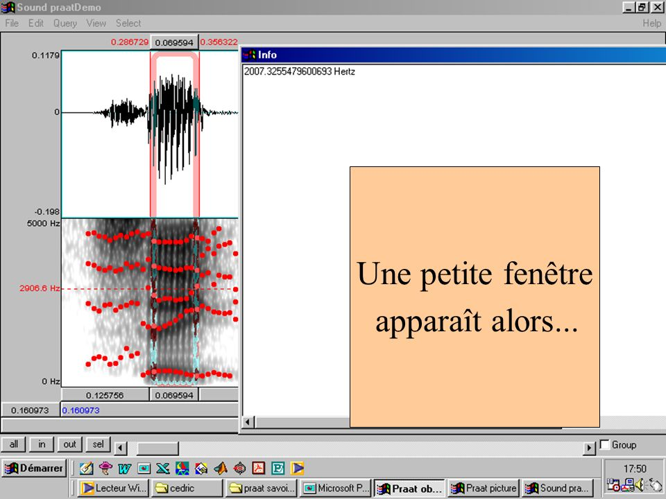 Cédric Gendrot - TAL SLOW 5 - 2003-2004 - ILPGA 70 Une petite fenêtre apparaît alors...