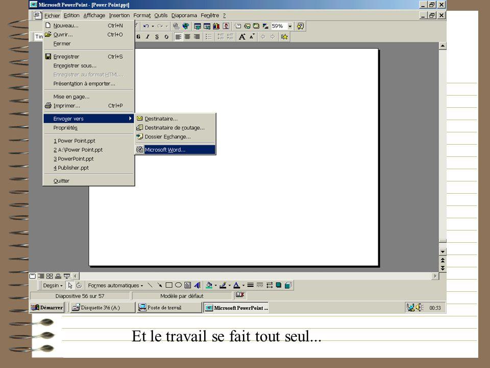 On entend par exporter le fait denvoyer votre document sur un autre logiciel en un minimum de temps. Ici vous pouvez lenvoyer vers word