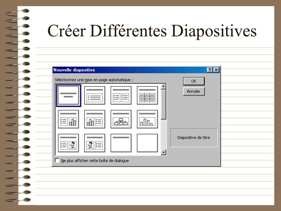 Créer des Diapositives Notez ce raccourci: il vous sera utile!