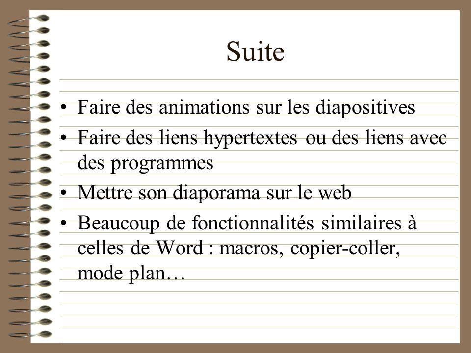 Les Principales Fonctionnalités De Power Point Insertion dimages, de son, de vidéo Ajustement automatique du texte au format de la diapositive Choix d