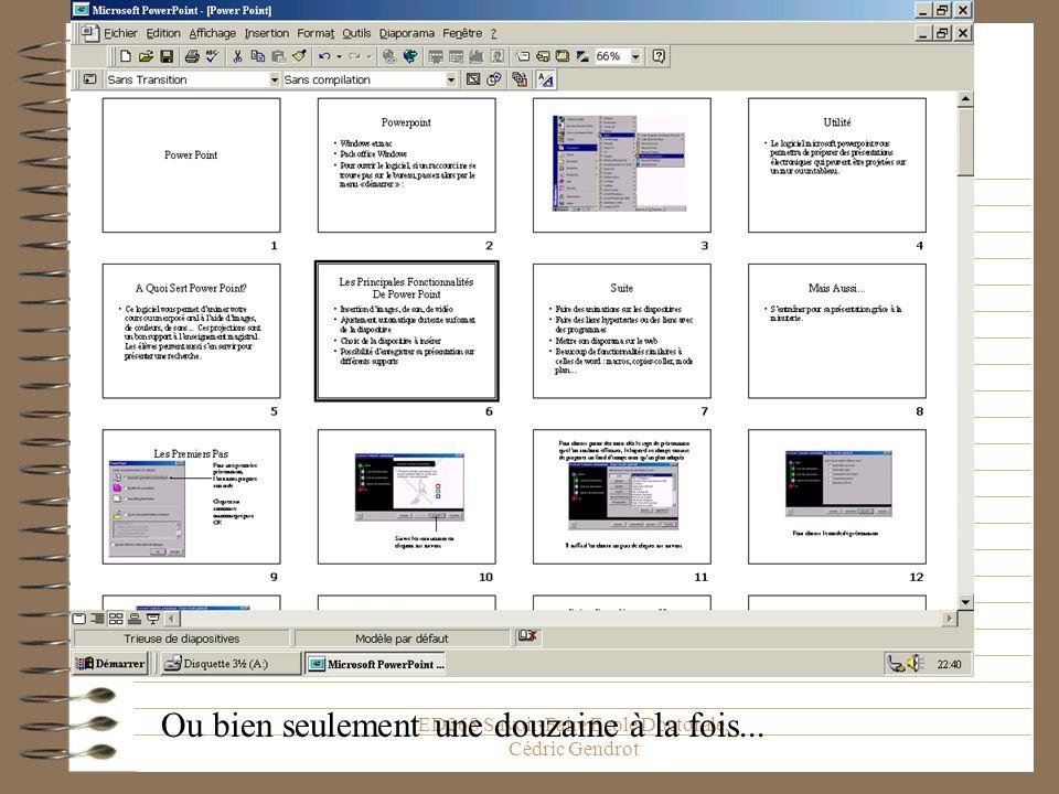 ED268 Savoir-Faire Ecole Doctorale, Cédric Gendrot Pour les observer toutes en même temps...