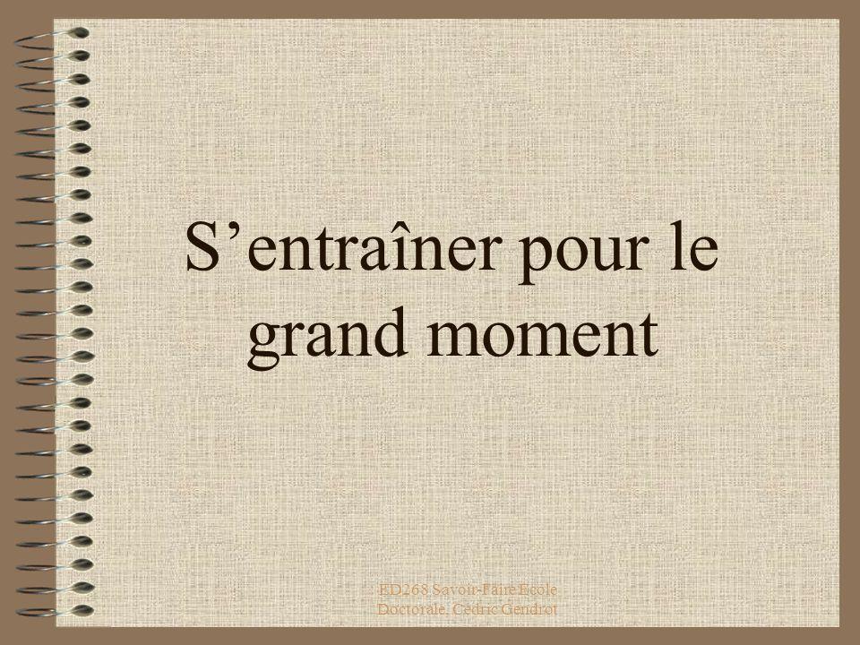 ED268 Savoir-Faire Ecole Doctorale, Cédric Gendrot Le mode page de commentaires qui sert à...