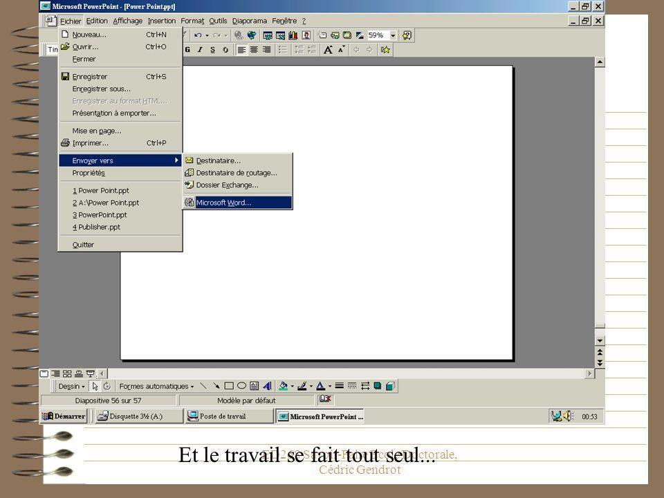 ED268 Savoir-Faire Ecole Doctorale, Cédric Gendrot Exportez Votre Travail On entend par exporter le fait denvoyer votre document sur un autre logiciel