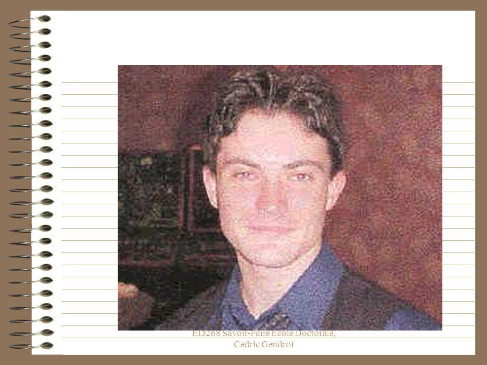 ED268 Savoir-Faire Ecole Doctorale, Cédric Gendrot Partons du point zéro