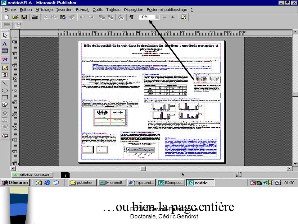 ED268 Savoir-Faire Ecole Doctorale, Cédric Gendrot …ou bien la page entière