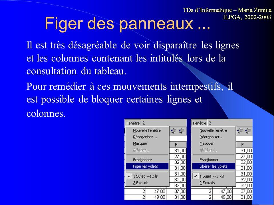 Options d affichage Options d affichage Excel Sous Excel, vous pouvez ajuster la largeur des lignes et des colonnes pour afficher le contenu des enreg