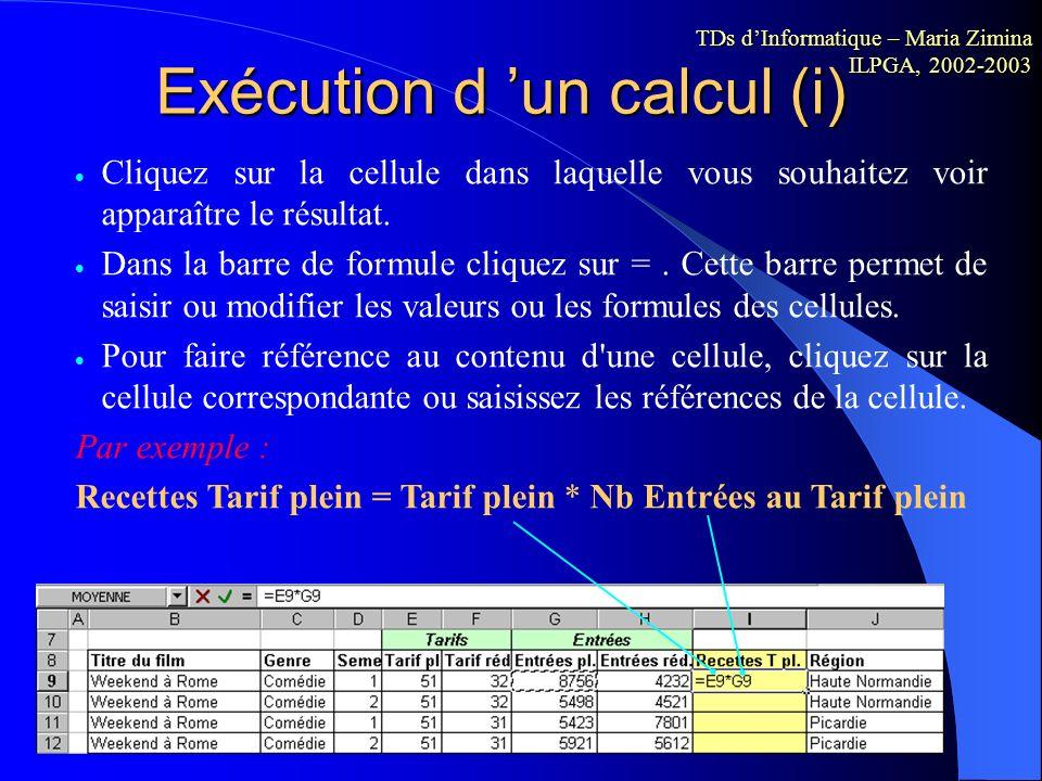 Opérateurs arithmétiques Les opérateurs indiquent le type de calcul que vous voulez effectuer sur les éléments d'une formule. Les opérateurs arithméti