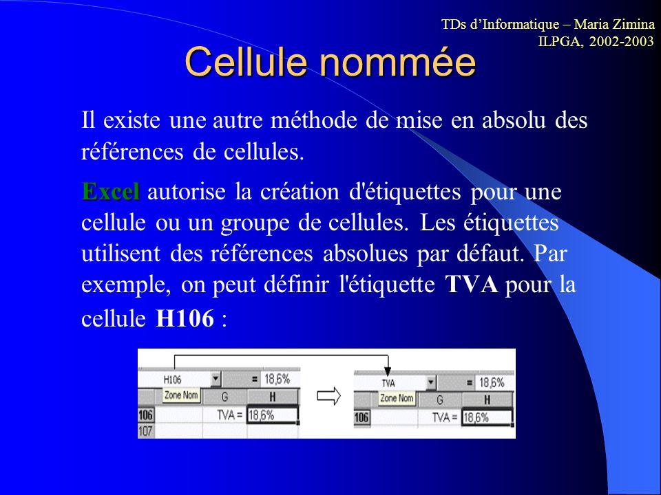 Références relatives et références absolues Dans les formules de calculs, l'adaptation des coordonnées des cellules en fonction de leur position relat