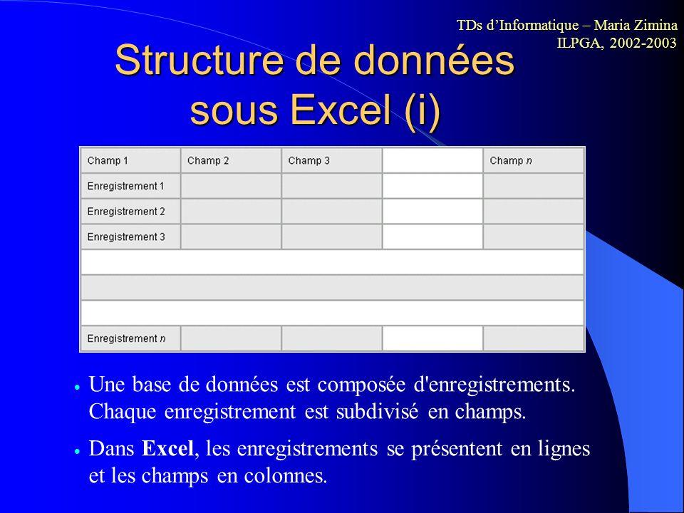 Notion de feuille de calcul Les feuilles de calcul du classeur servent à répertorier et analyser des données. Vous pouvez renseigner ou modifier des d