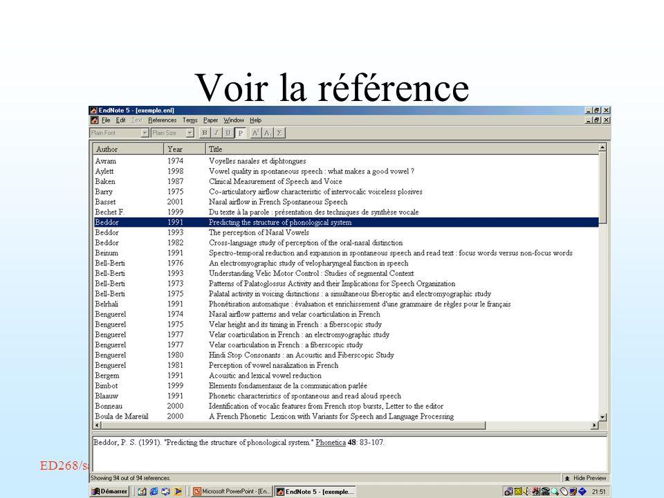 ED268/savoir-faire/Février 2002/Endnote/A. Amelot Voir la référence