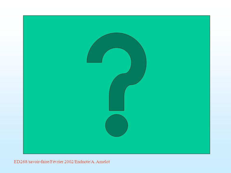 Pour recopier une référence : Sélectionner la ou les références –Edit – Eopy –Edit – Paste Il y a alors deux références similaires