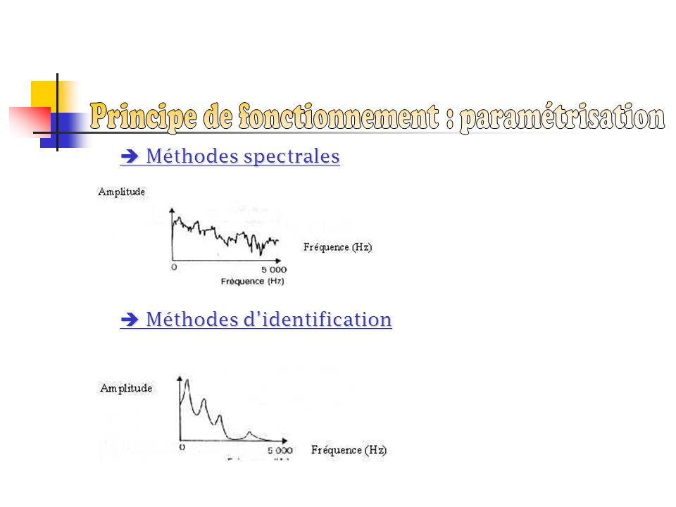 Méthodes spectrales Méthodes spectrales Méthodes didentification Méthodes didentification
