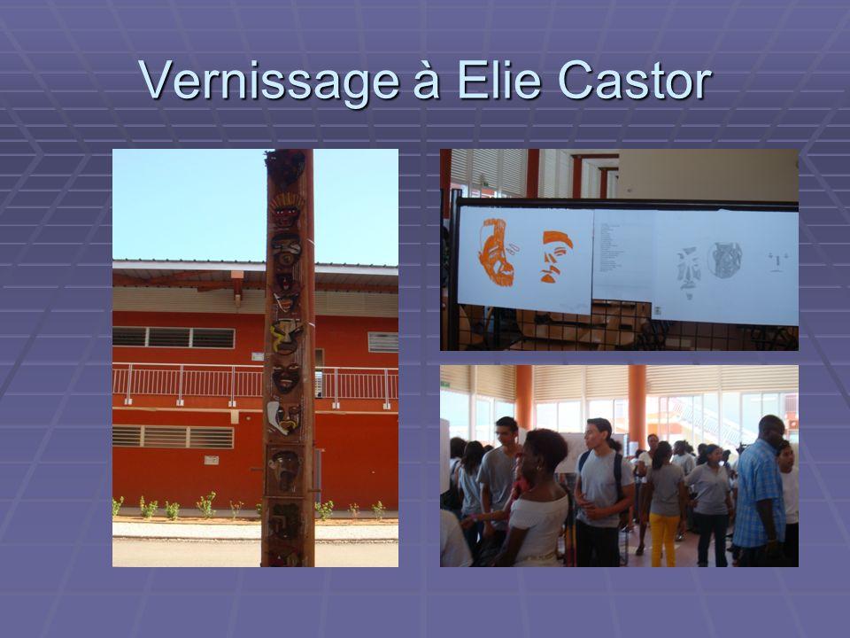 Vernissage à Elie Castor