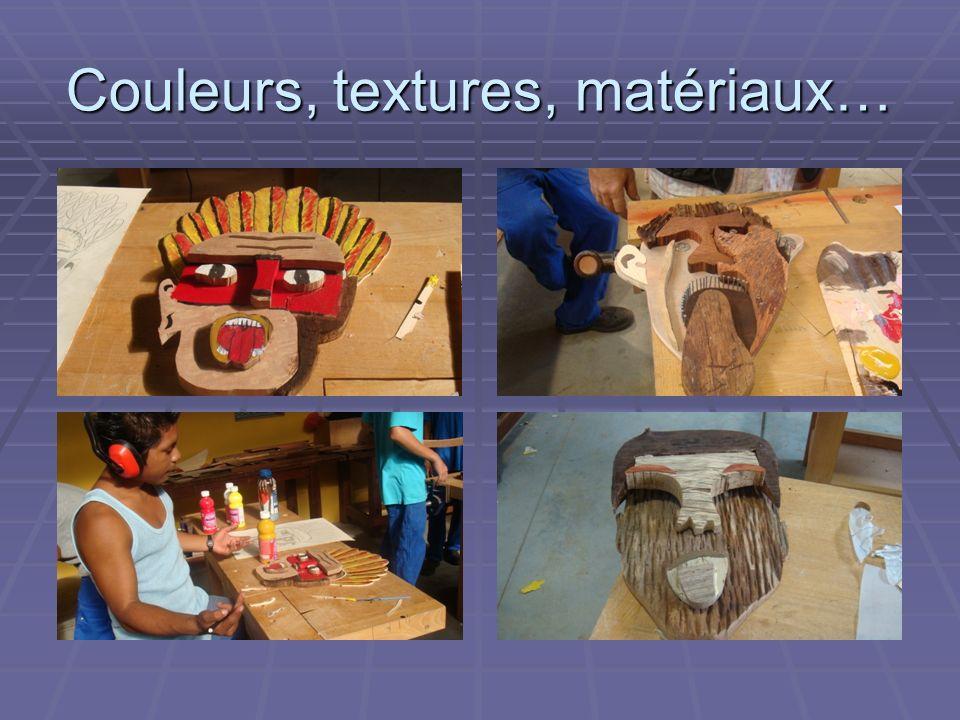 Couleurs, textures, matériaux…