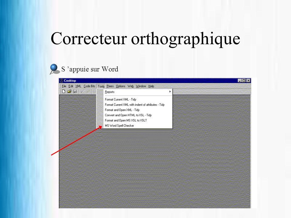 Correcteur orthographique S appuie sur Word