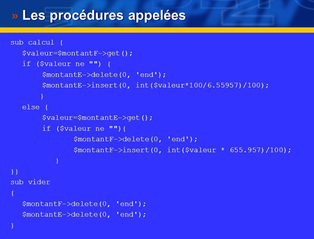 Premier programme complet avec Perl Tk #.