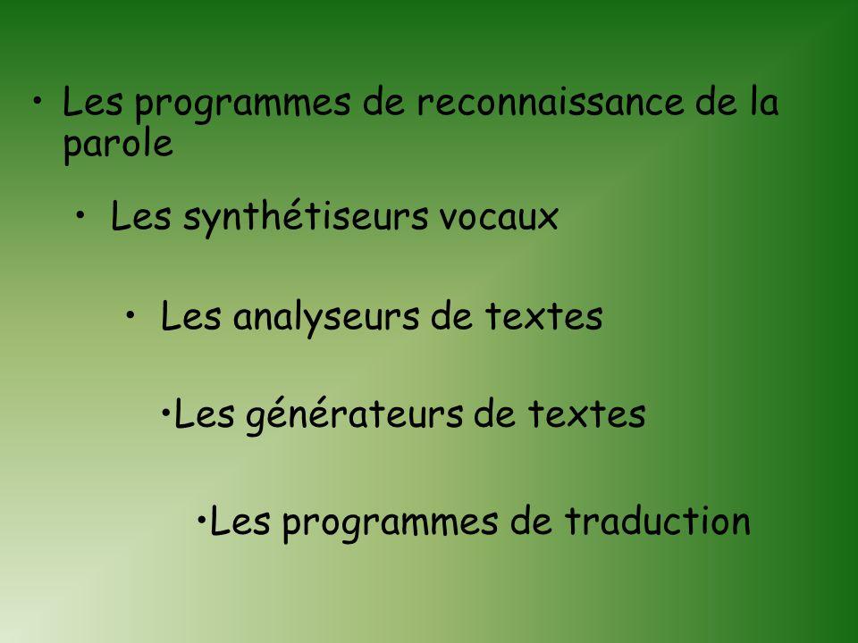 TRAITEMENT AUTOMATIQUE DES LANGUES : LES PRINCIPAUX PROGRAMMES Géraldine Clément Paris III-Le 03/06/2003