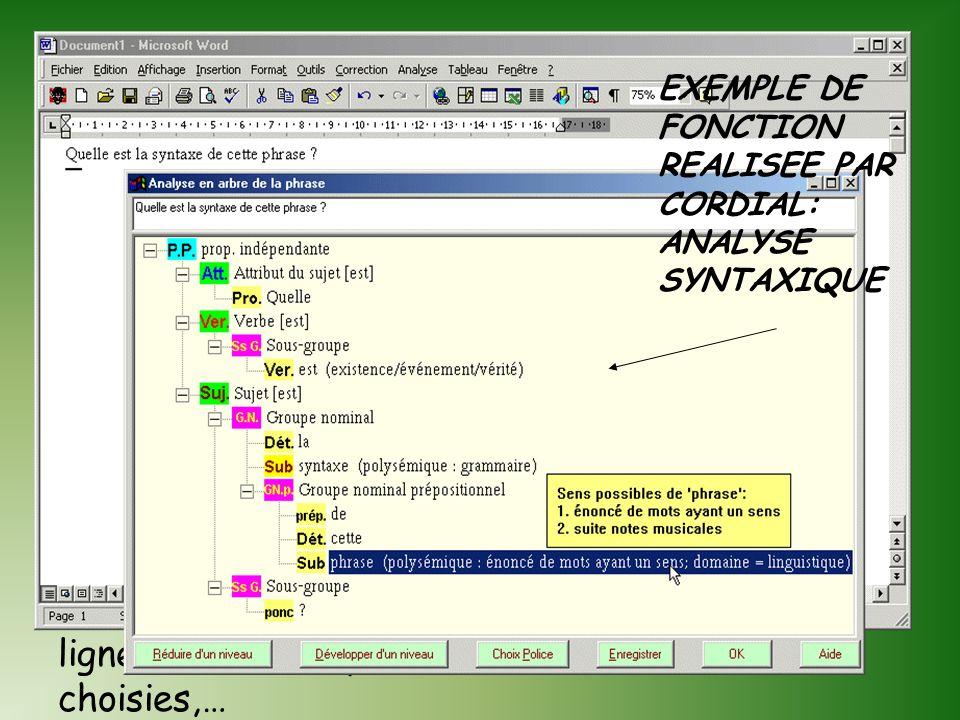 Les analyseurs de texte donnent des renseignements sur un ou plusieurs textes Différentes analyses: Lexicale Morphologique Syntaxique,etc.