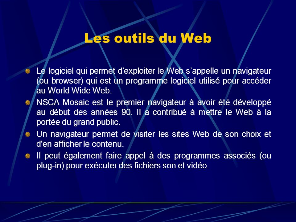 Les navigateurs Point d accès au web sans navigateur .