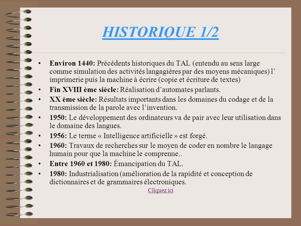 PLAN Introduction I/Quest-ce que le TAL ? I/a. Définition et enjeux. I/b. Historique. I/c. Les intervenants. II/Le fonctionnement du TAL. II/a. Diffic