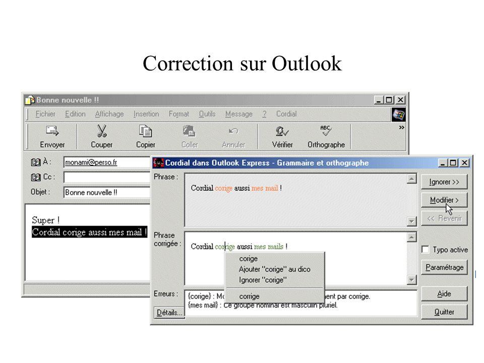 Correction sur un logiciel de traitement de texte