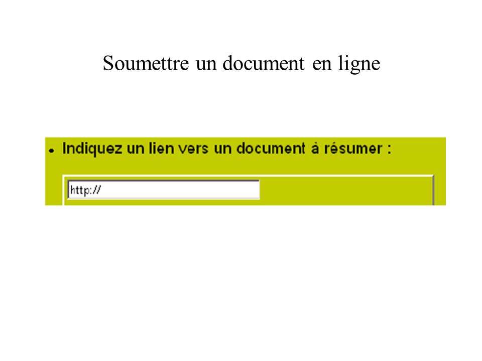 Soumettre un document en local