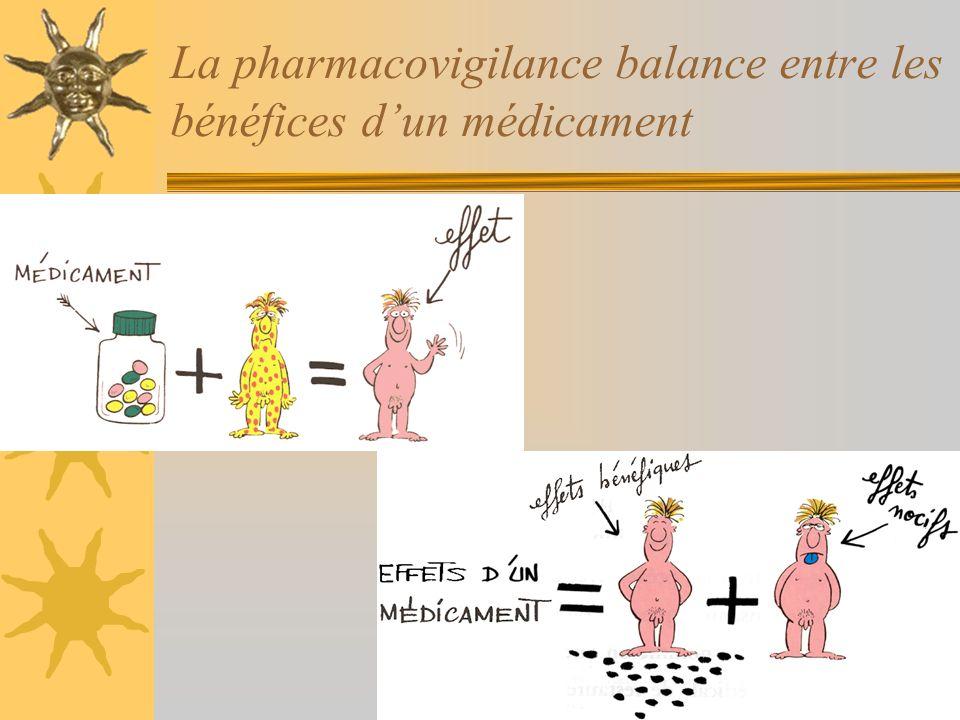 La pharmacovigilance balance entre les bénéfices dun médicament