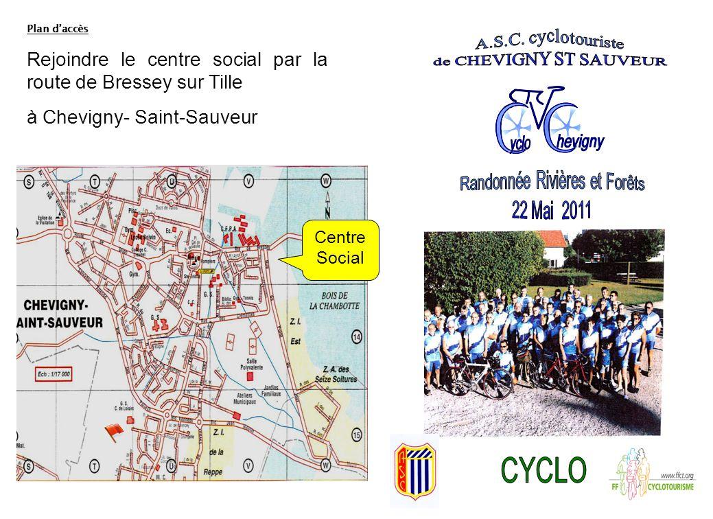 Plan daccès Rejoindre le centre social par la route de Bressey sur Tille à Chevigny- Saint-Sauveur Centre Social