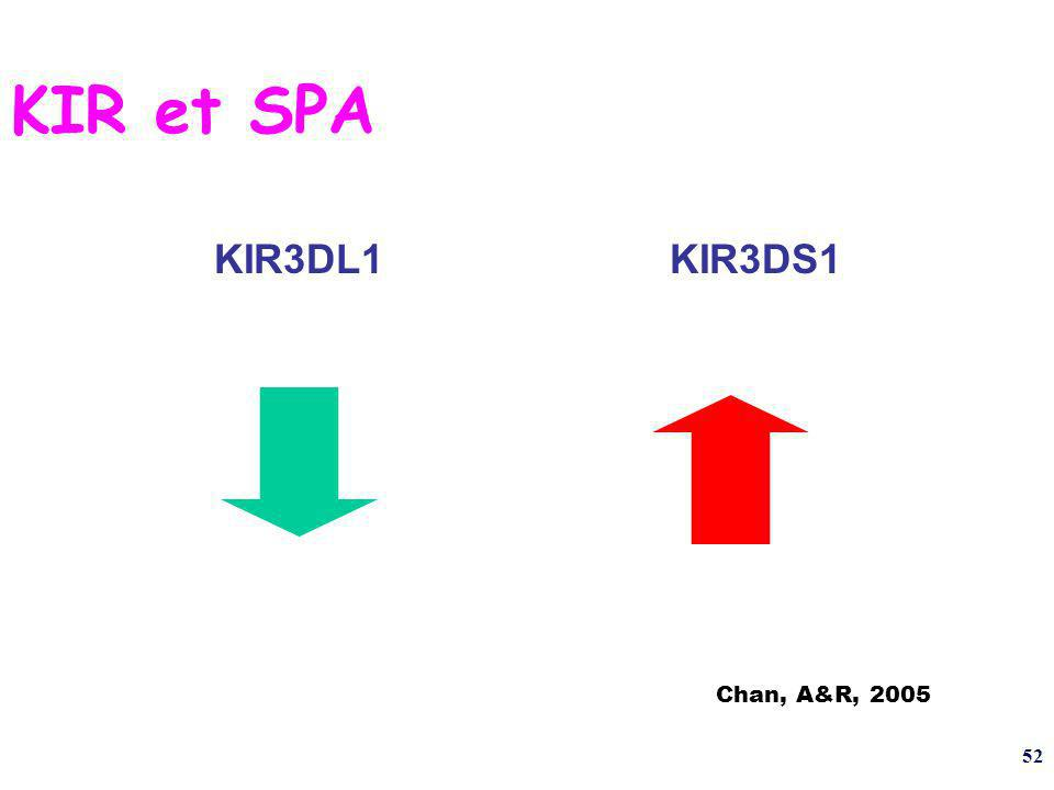 52 KIR et SPA KIR3DL1KIR3DS1 Chan, A&R, 2005