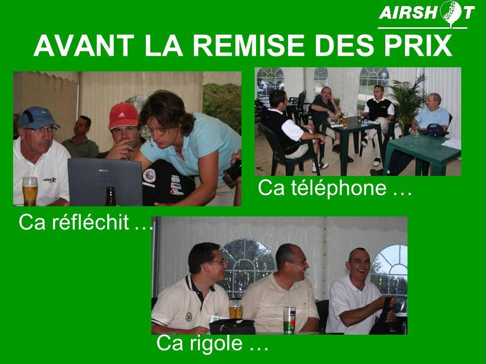 AVANT LA REMISE DES PRIX Ca réfléchit … Ca téléphone … Ca rigole …