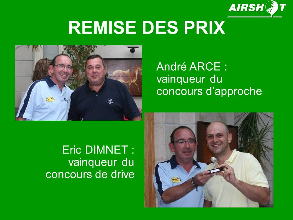 REMISE DES PRIX Gérard ROBERT (encore une fois) remporte le trophée FINIMMO.