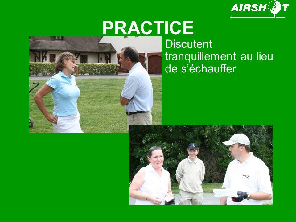 PRACTICE Victor MARQUES et Stéphane GUYON Discutent tranquillement au lieu de séchauffer