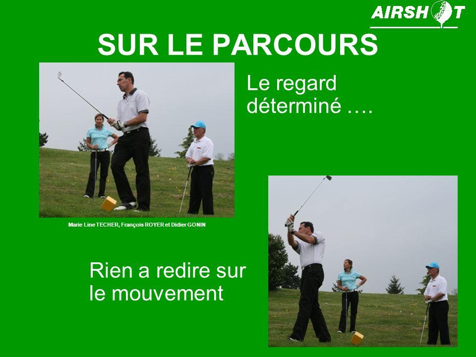 SUR LE PARCOURS Le regard déterminé …. Marie Line TECHER, François ROYER et Didier GONIN Rien a redire sur le mouvement
