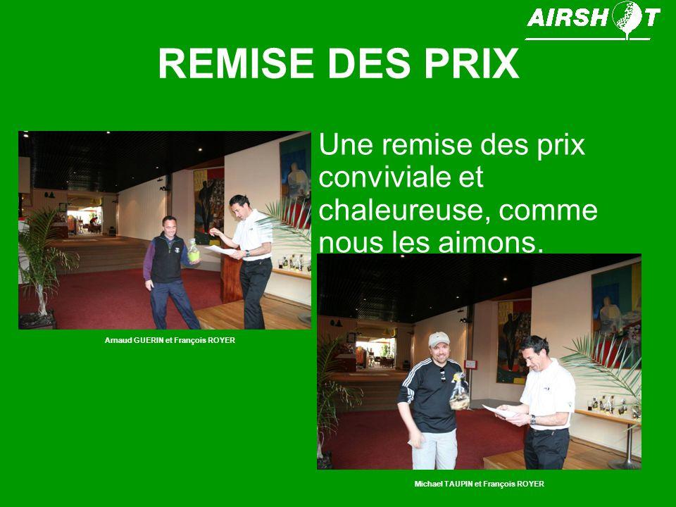 REMISE DES PRIX Gérard ROBERT (vainqueur de lépreuve en brut) faisant une comparaison à lassemblée entre le stableford brut et le strokeplay.