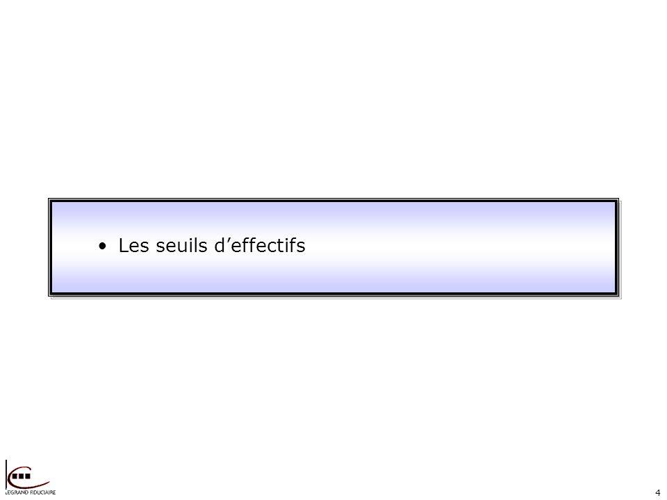 4 Les seuils deffectifs