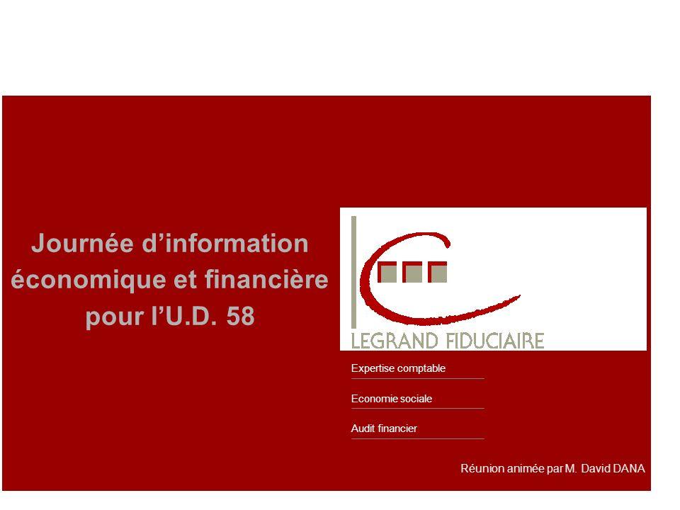Audit financier Economie sociale Expertise comptable Réunion animée par M. David DANA Journée dinformation économique et financière pour lU.D. 58