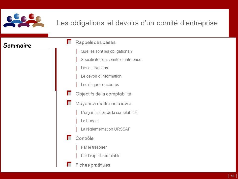 | 18 | Les obligations et devoirs dun comité dentreprise Rappels des bases Quelles sont les obligations ? Spécificités du comité dentreprise Les attri