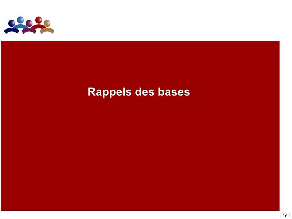 | 19 | Rappels des bases