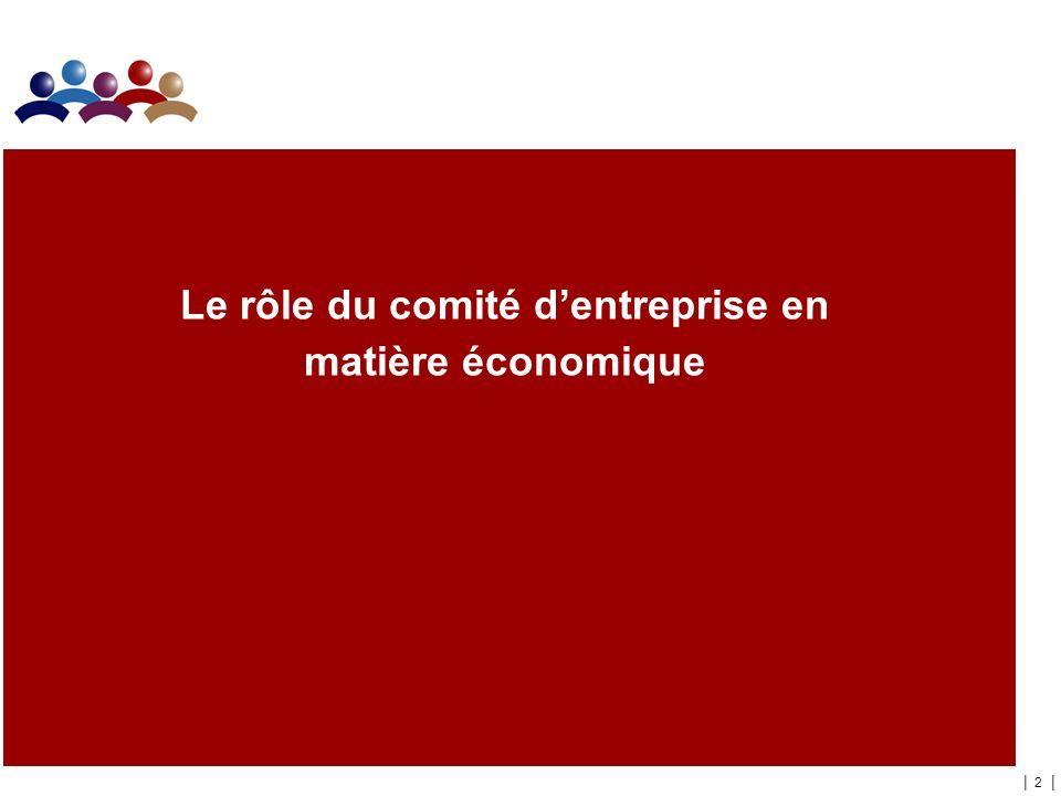 | 2 | Le rôle du comité dentreprise en matière économique