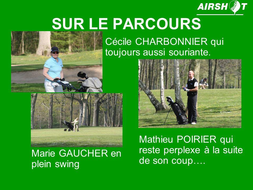 SUR LE PARCOURS Cécile CHARBONNIER qui toujours aussi souriante.