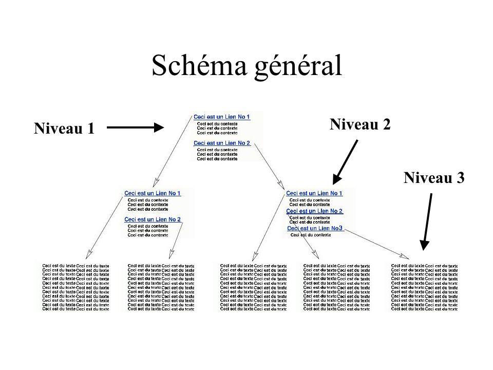 Schéma général Niveau 1 Niveau 3 Niveau 2