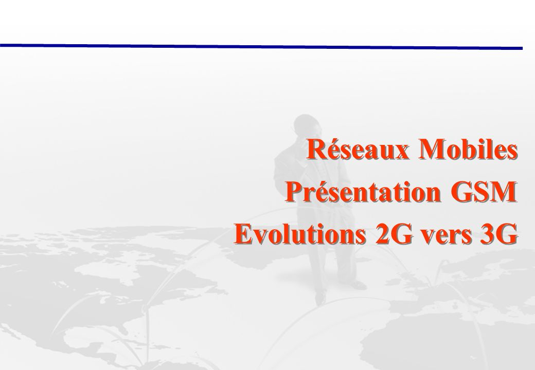 28/02/2014 Abderrahim Benslimane: Réseaux Mobiles ( GSM, 2G 3G) 41 The (US) CDMA revolution Traditionally radio communication systems have separated users by either frequency channels, time slots, or both.