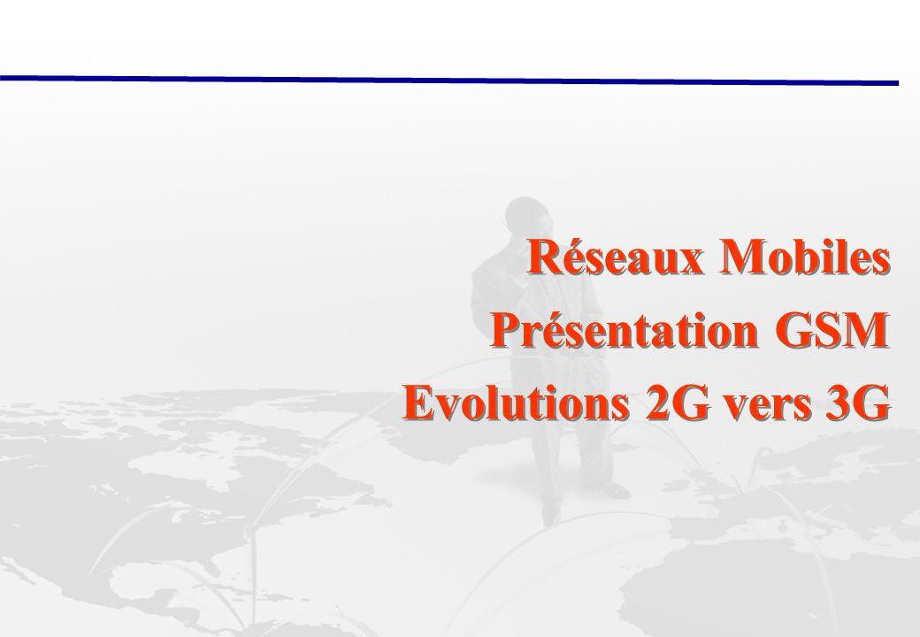 28/02/2014 Abderrahim Benslimane: Réseaux Mobiles ( GSM, 2G 3G) 21 2G: Interface Radio GSM Le spectre radio a des ressources limitées, partagées entre tous les utilisateurs.