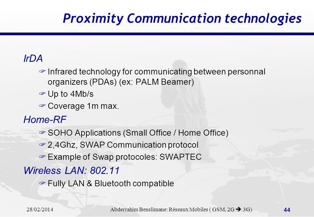 28/02/2014 Abderrahim Benslimane: Réseaux Mobiles ( GSM, 2G 3G) 43 CDMA vs.