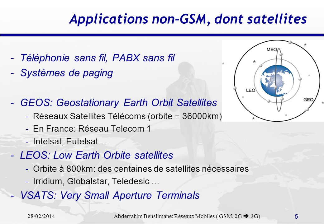 28/02/2014 Abderrahim Benslimane: Réseaux Mobiles ( GSM, 2G 3G) 25 Mobility: the roamer is identified within the VPLMN GSM Home Network GSM Visited Network BSC SCCP Gateway MSC Wireline Network HPLMNVPLMN BTS VLR Record roamers profile ( home network, teleservices, …) Record new VLR location Update location message MSC VLR SCCP Gateway BSC BTS HLR