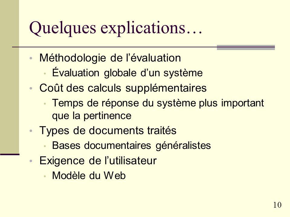 9 Bilan mitigé (pour le moins) De Loupy 2001 : « Les expériences publiées dans la littérature ne font pas apparaître clairement que les systèmes utili