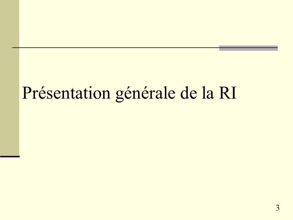 3 Présentation générale de la RI